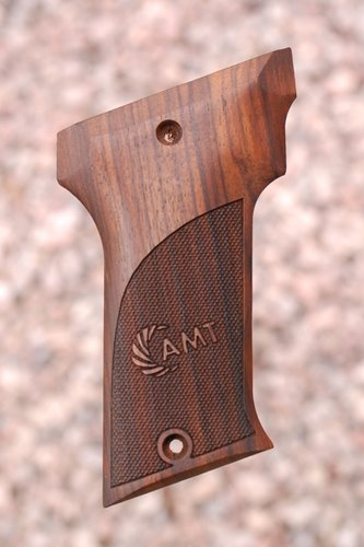 AMT II WALNUT GRIPS (Checkered + Logo)