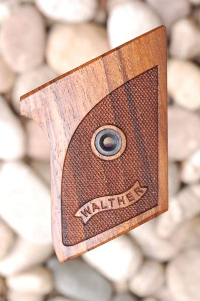 WALTHER TPH GRIPS (checkered + logo) - full size