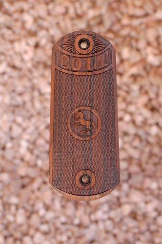 COLT 1902 SPORTING PISTOL grips (checkerd)