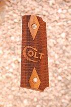 COLT 1911 OFFICER GRIPS (checkered+logo)