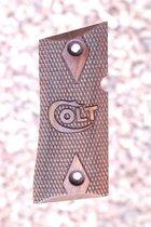 COLT MUSTANG grips (checkered+logo)