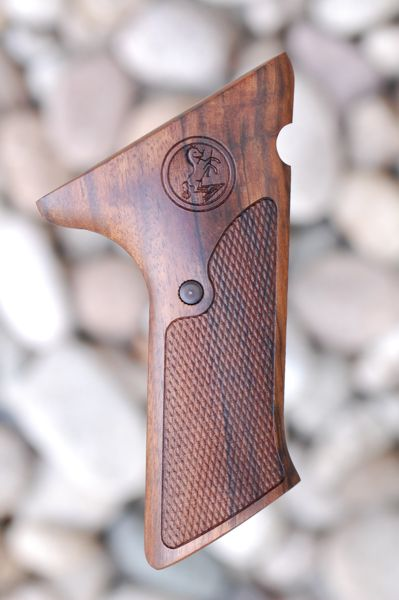 COLT WOODSMAN 2nd Series EARLY GRIPS (checkered) - full size