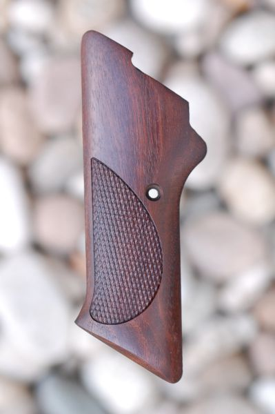 COLT WOODSMAN 2nd series GRIPS W/O THUMB REST (checkered) - full size