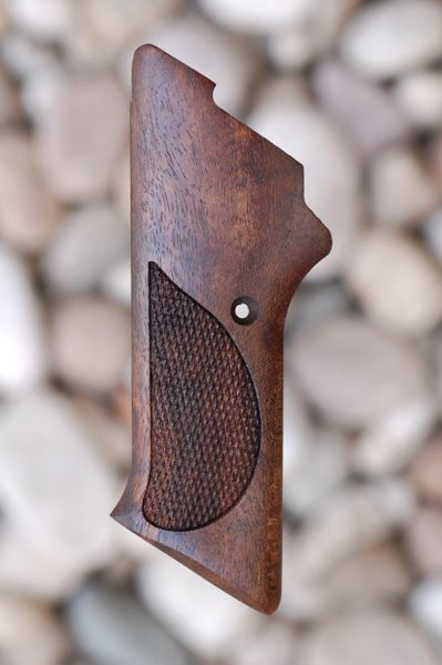 COLT WOODSMAN 3rd series GRIPS W/O THUMB REST (checkered) - full size