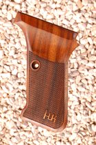 HK P7 M8 grips (checkered+logo)