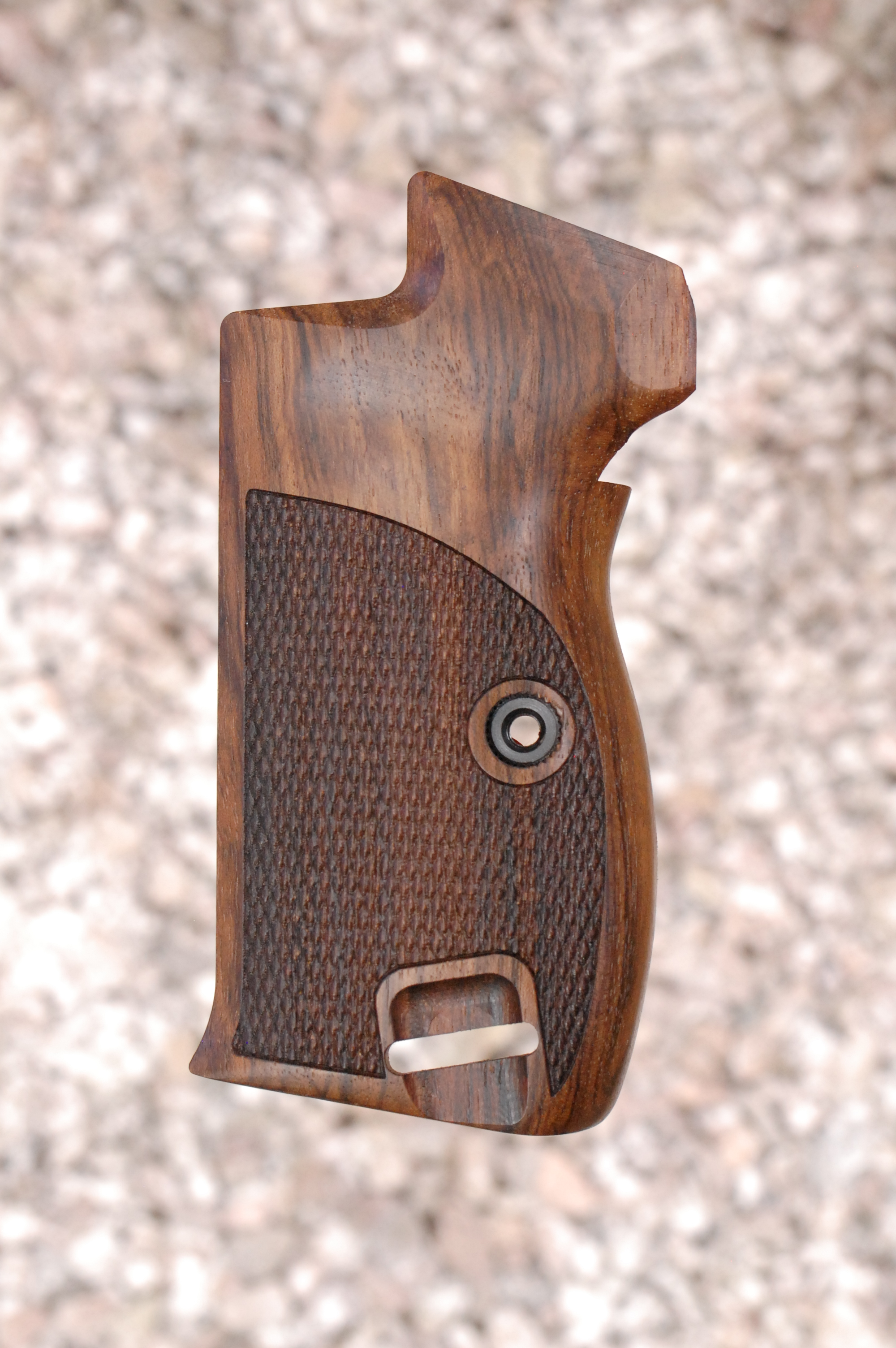 SIG P210 GRIPS, bottom m.r., heavy (checkered) - full size
