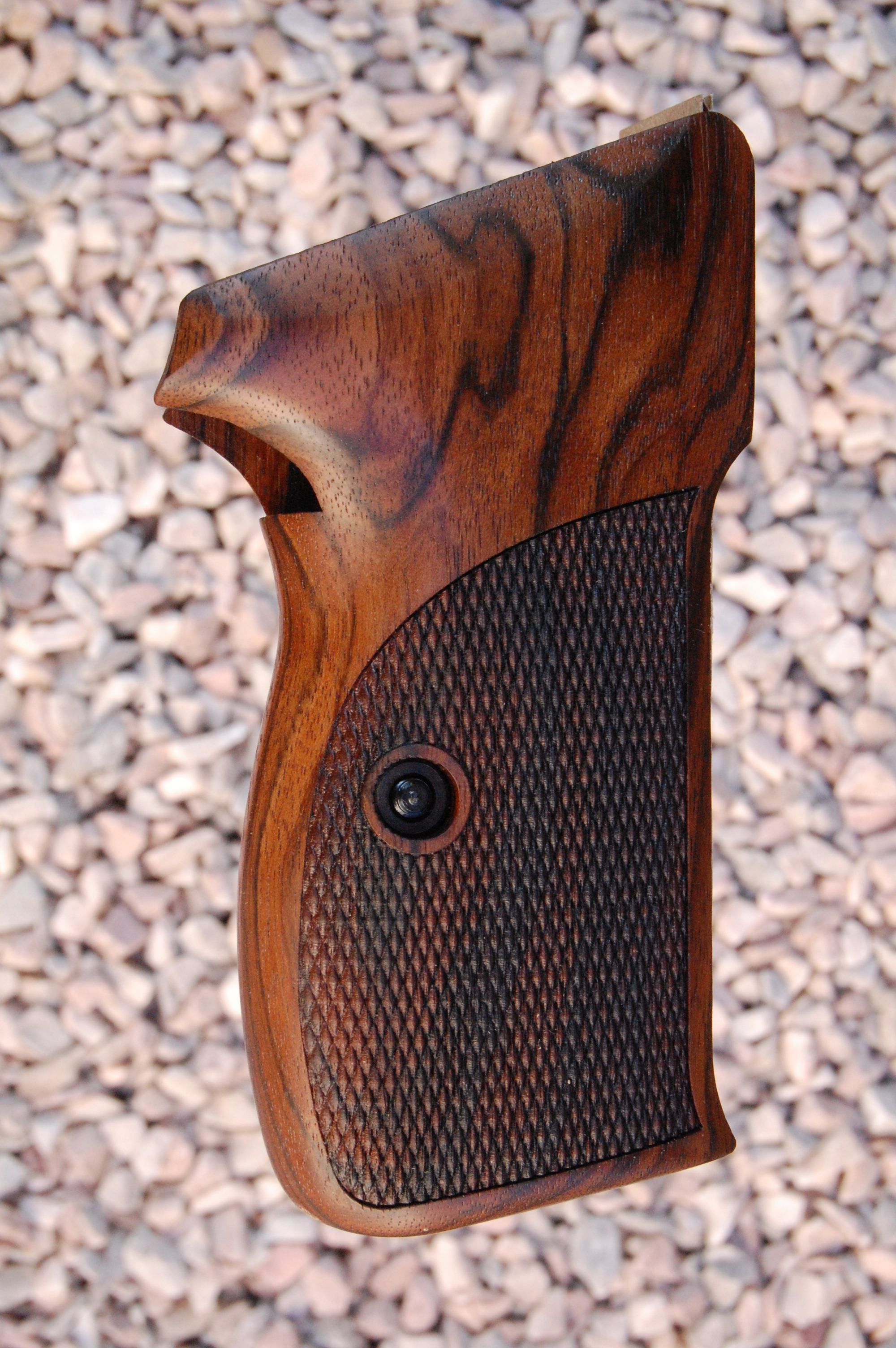 SIG P210 Super Target 5 grips (checkered) - full size