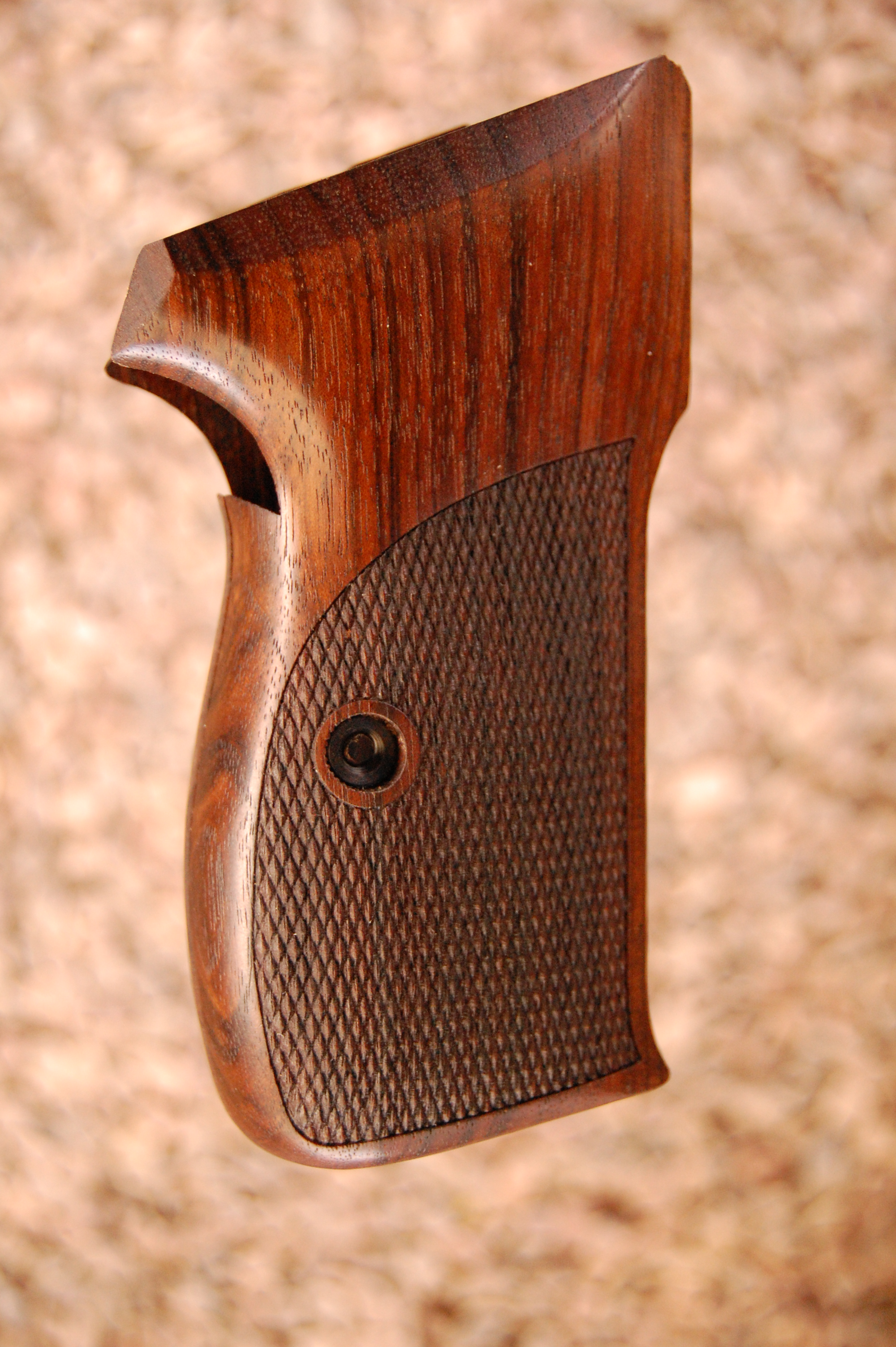 SIG P210A American grips (checkered) - full size