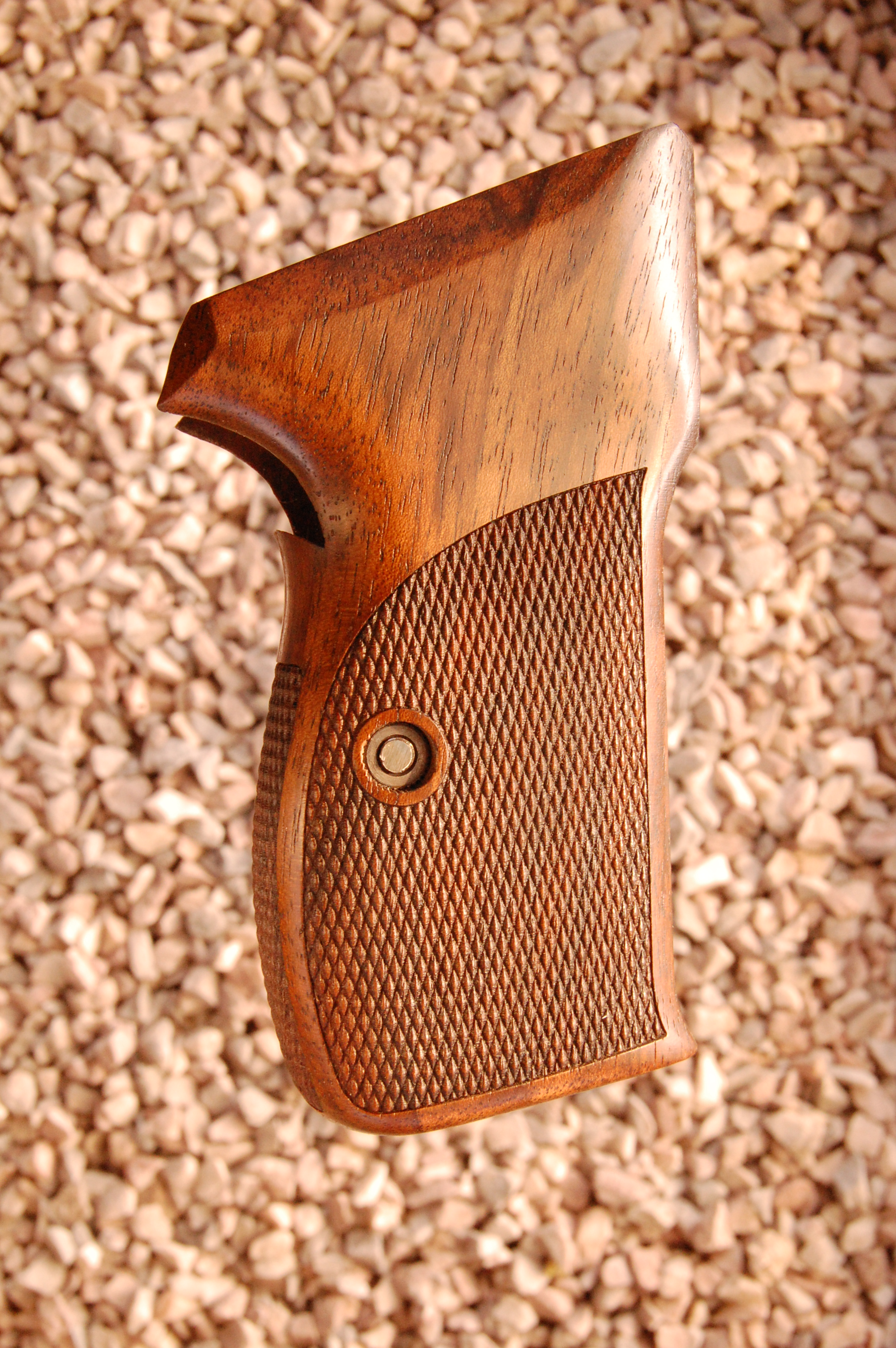 SIG P210A American grips (checkered back) - full size