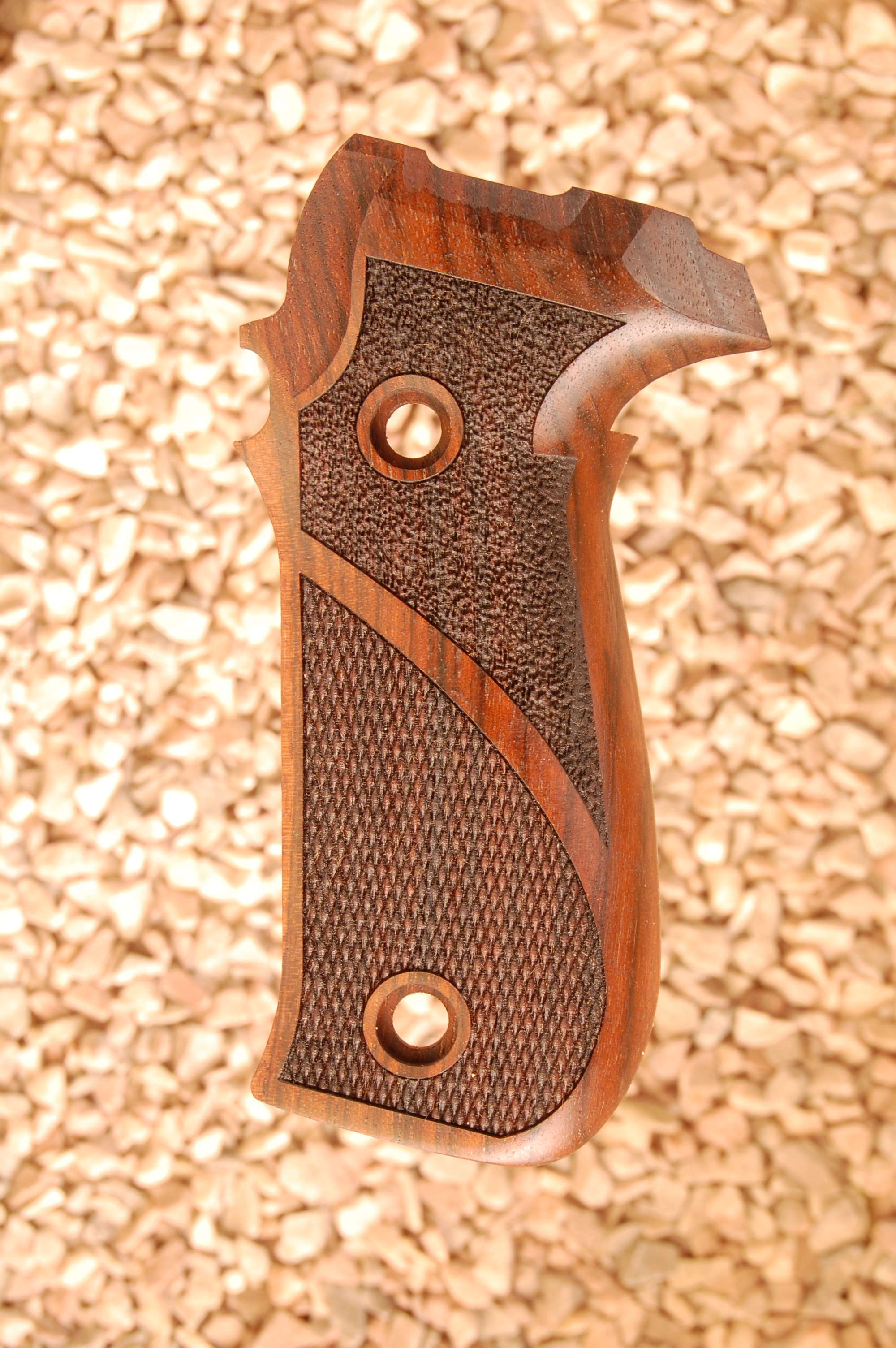 SIG P226 grips (checkered+textured) - full size
