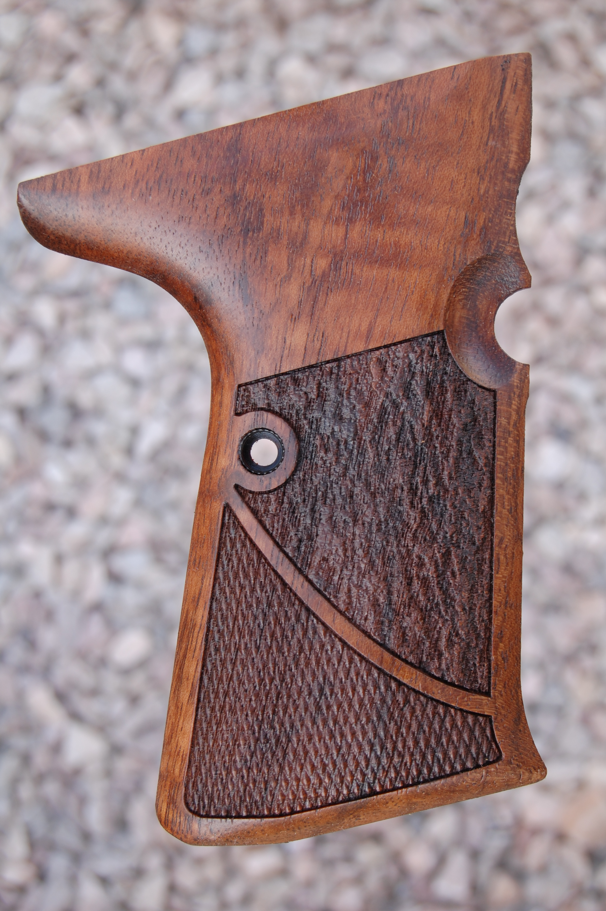 WALTHER P5 Compact side mag. release (checkered+textured) - full size