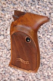WALTHER P5 grips with Thumb rest (checkered+logo)