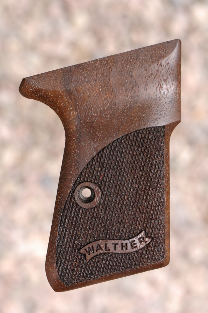 WALTHER PP GRIPS (checkered+logo) - full size
