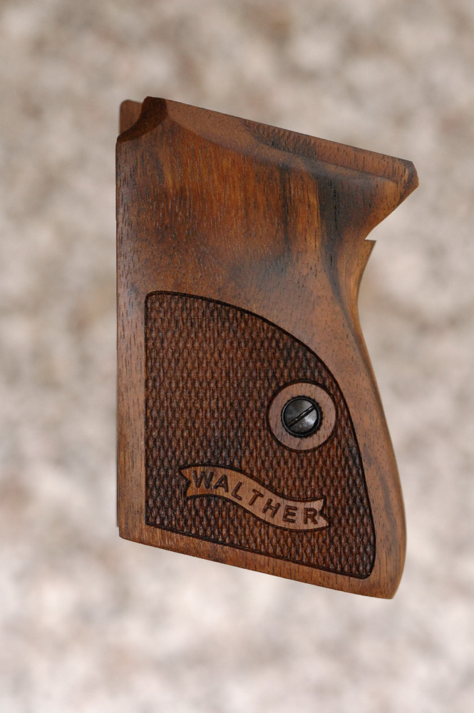 WALTHER PPK GRIPS (checkered+logo) - full size